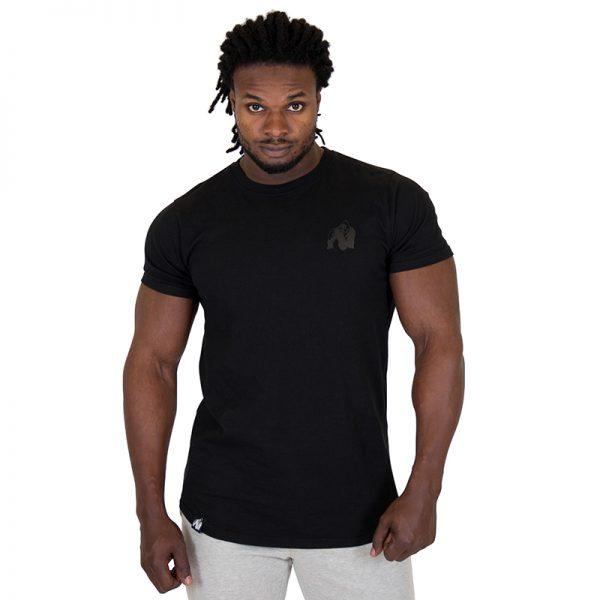 Fitness Shirt Heren Zwart - Gorilla Wear Bodega-1