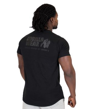 Fitness Shirt Heren Zwart - Gorilla Wear Bodega-2