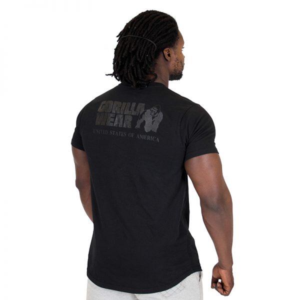 Fitness Shirt Heren Zwart - Gorilla Wear Bodega-2