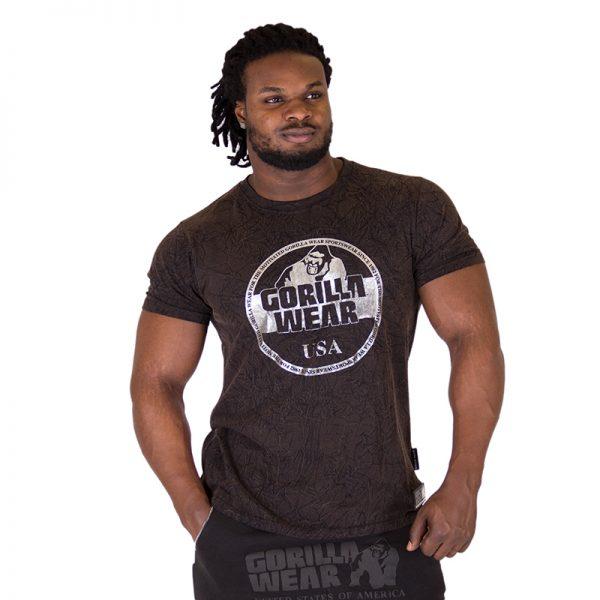 Fitness Shirt Heren Zwart - Gorilla Wear Rocklin-1