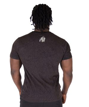Fitness Shirt Heren Zwart - Gorilla Wear Rocklin-2