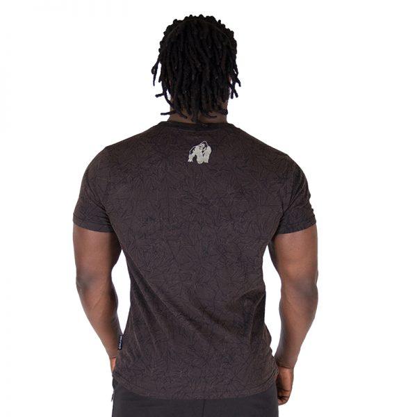 Fitness Shirt Heren Zwart - Gorilla Wear Rocklin-2