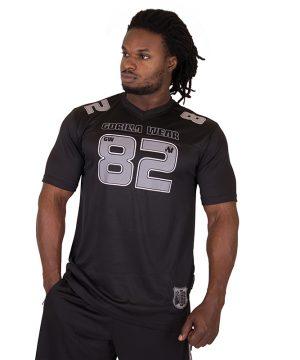 Fitness Shirt Heren Zwart Grijs - Gorilla Wear Fresno-1