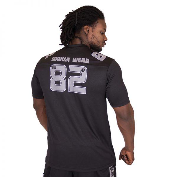 Fitness Shirt Heren Zwart Grijs - Gorilla Wear Fresno-2