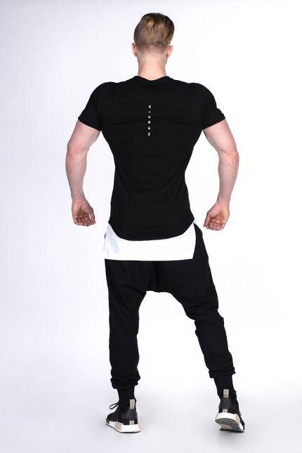 Fitness Shirt Heren Zwart - Nebbia 123-2