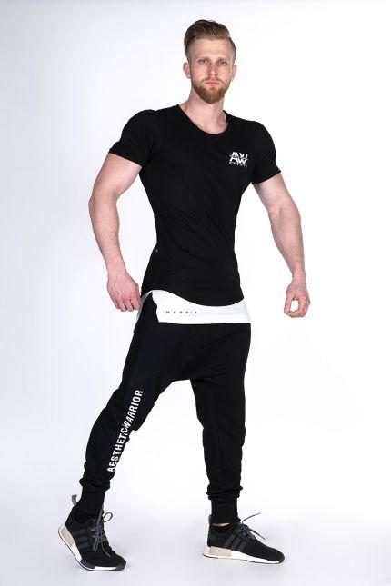 Fitness Shirt Heren Zwart - Nebbia 123-3