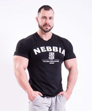 Fitness Shirt Heren Zwart - Nebbia 396-1