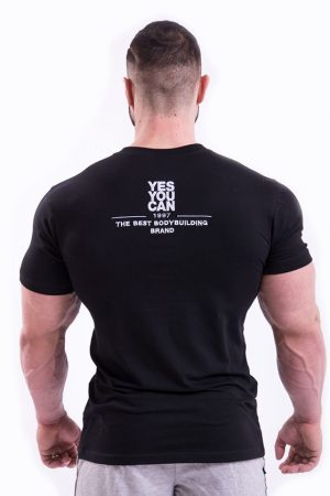 Fitness Shirt Heren Zwart - Nebbia 396-1