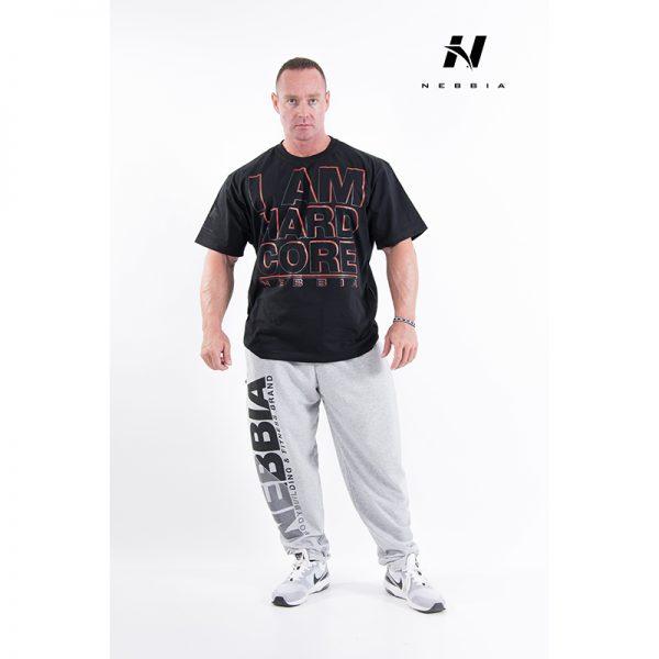 Fitness Shirt Heren Zwart - Nebbia Hard Core T-Shirt 390-1