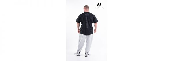 Fitness Shirt Heren Zwart - Nebbia Hard Core T-Shirt 390-2