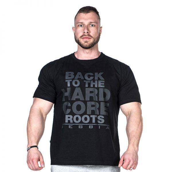 Fitness Shirt Heren Zwart - Nebbia Hard Core T-Shirt 391-1