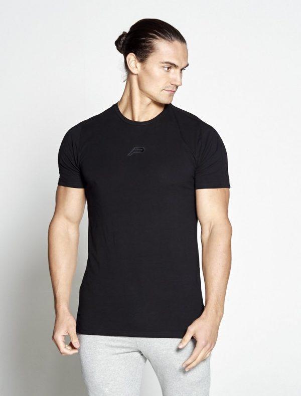 Fitness Shirt Heren Zwart Pro-Fit - Pursue Fitness-1
