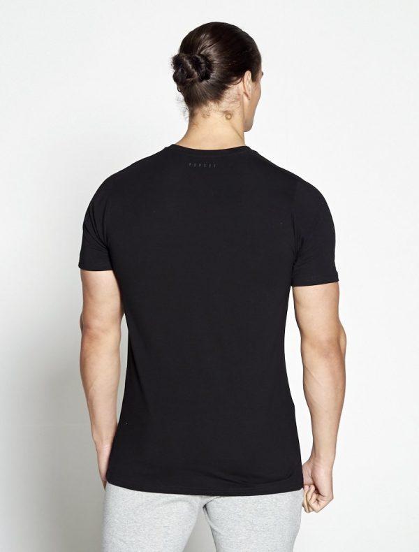 Fitness Shirt Heren Zwart Pro-Fit - Pursue Fitness-2