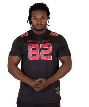 Fitness Shirt Heren Zwart Rood - Gorilla Wear Fresno-1