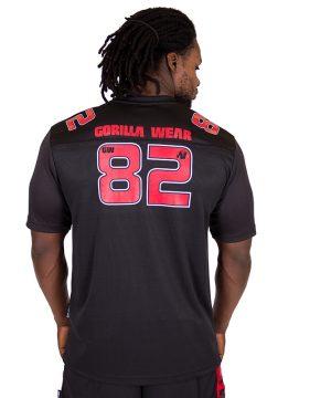 Fitness Shirt Heren Zwart Rood - Gorilla Wear Fresno-2