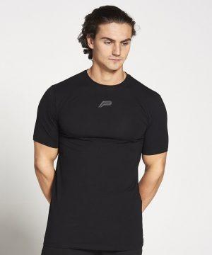 Fitness Shirt Heren Zwart Stretch - Pursue Fitness-1