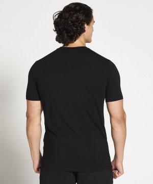 Fitness Shirt Heren Zwart Stretch - Pursue Fitness-2