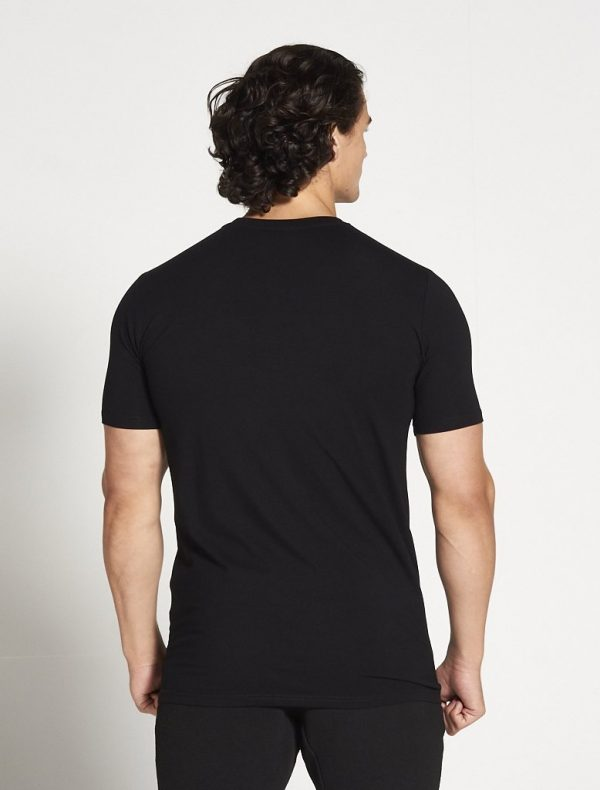 Fitness Shirt Heren Zwart Stretch - Pursue Fitness-2
