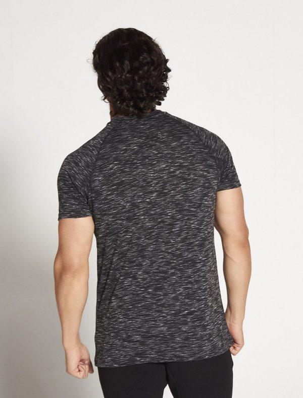 Fitness Shirt Heren Zwart Wit Slub - Pursue Fitness-2