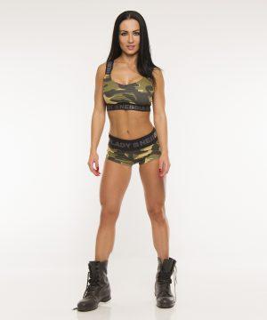 Fitness Shorts Dames Camo Groen - Nebbia 245-1