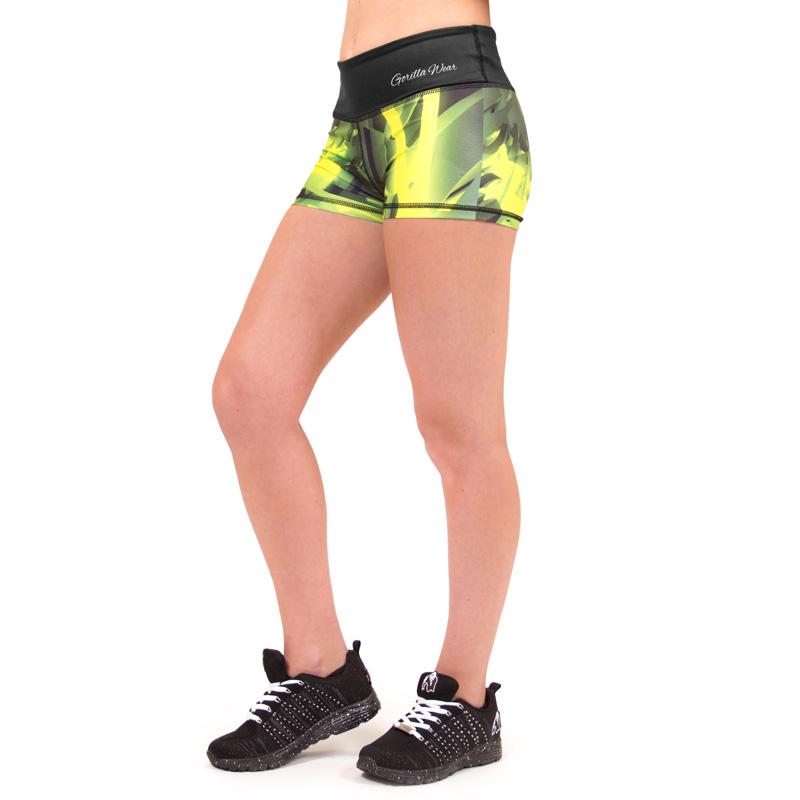 Korte Broek Dames Sport.Fitness Shorts Dames Geel Gorilla Wear Reno Fitnesskledingshop Com