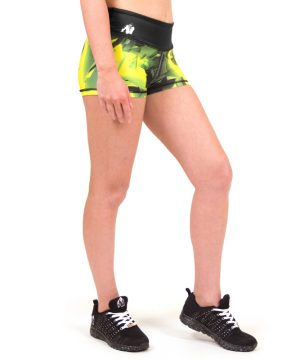 Fitness Shorts Dames Geel - Gorilla Wear Reno-2