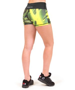 Fitness Shorts Dames Geel - Gorilla Wear Reno-3