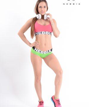 Fitness Shorts Dames Groen Gemeleerd - Nebbia 225-1