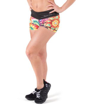 Fitness Shorts Dames Multicolor Mix - Gorilla Wear Venice-1