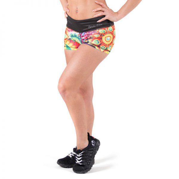 Fitness Shorts Dames Multicolor Mix - Gorilla Wear Venice-1