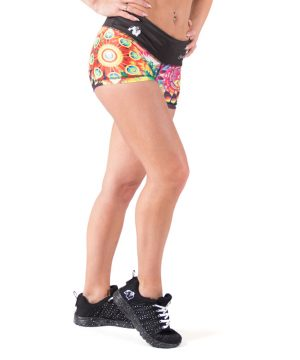 Fitness Shorts Dames Multicolor Mix - Gorilla Wear Venice-2