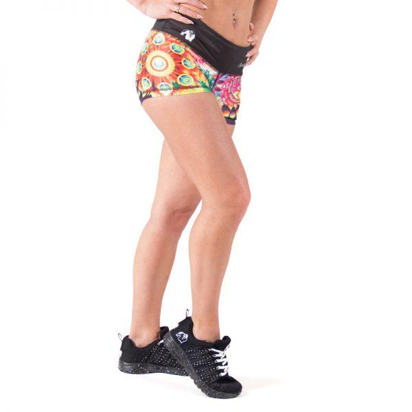 Fitness Shorts Dames Multicolor Mix - Gorilla Wear Venice-2