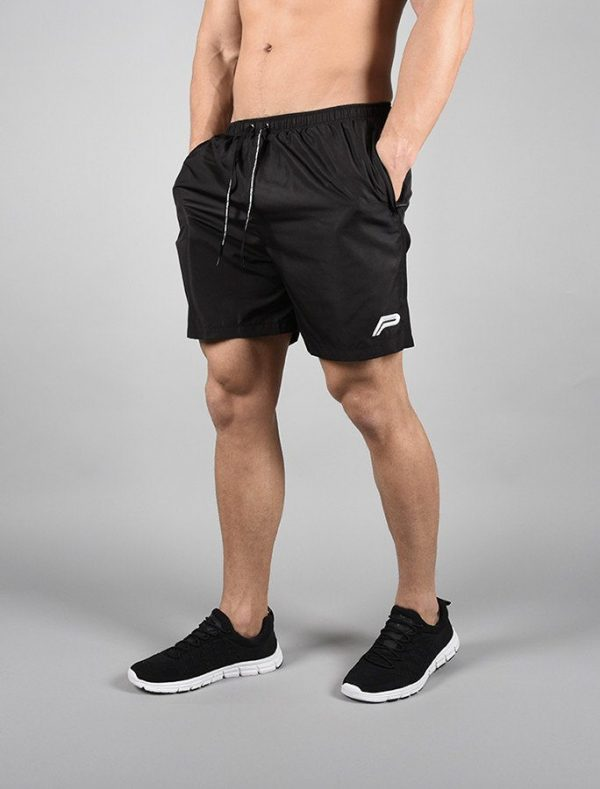 Fitness Shorts Heren Elevate Zwart-Wit - Pursue Fitness-1