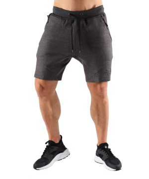 Fitness Shorts Heren Grijs - Muscle Brand-1