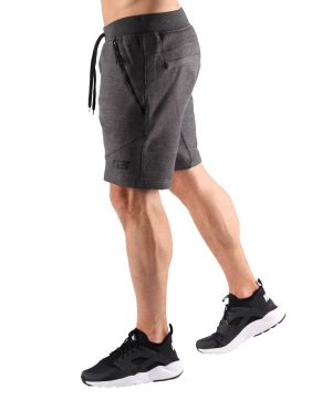 Fitness Shorts Heren Grijs - Muscle Brand-2