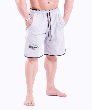 Fitness Shorts Heren Grijs - Nebbia 345-1