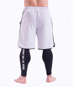 Fitness Shorts Heren Grijs - Nebbia 345-2