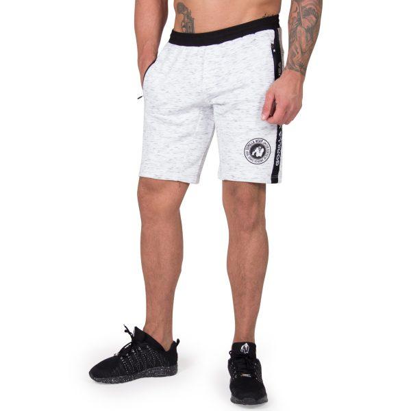 Fitness Shorts Heren Grijs Saint Thomas - Gorilla Wear-2