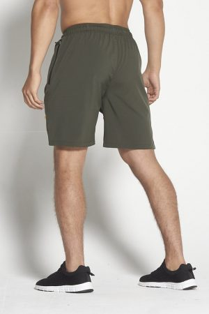 Fitness Shorts Heren Kaki 8inch - Pursue Fitness-2