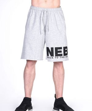 Fitness Shorts Heren Lichtgrijs - Nebbia Hard Core 343-1
