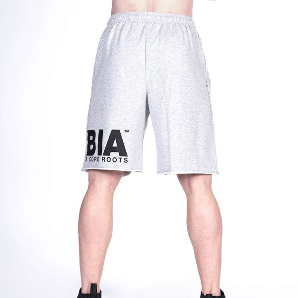 Fitness Shorts Heren Lichtgrijs - Nebbia Hard Core 343-3