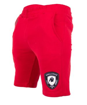 Fitness Shorts Heren Rood - Gorilla Wear Los Angeles-1