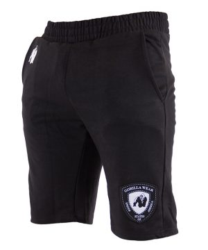 Fitness Shorts Heren Zwart - Gorilla Wear Los Angeles-1