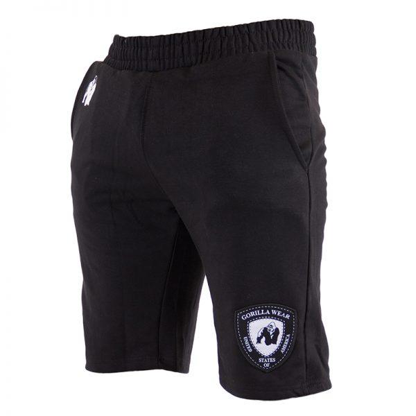 Fitness Shorts Heren Zwart - Gorilla Wear Los Angeles-1