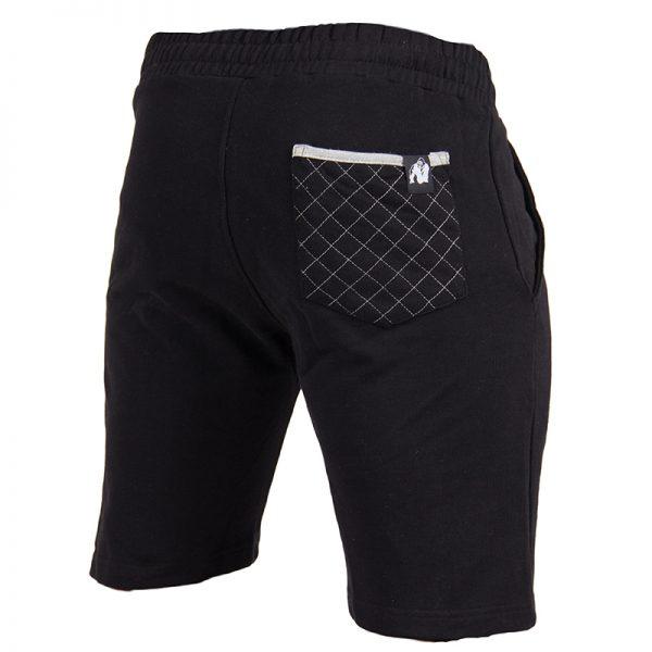 Fitness Shorts Heren Zwart - Gorilla Wear Los Angeles-2