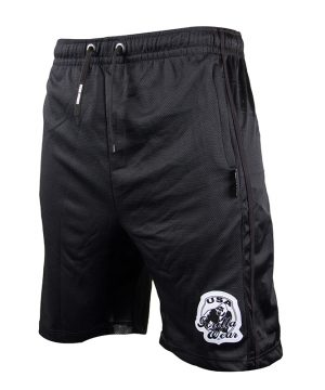 Fitness Shorts Heren Zwart - Gorilla Wear Oversized-1