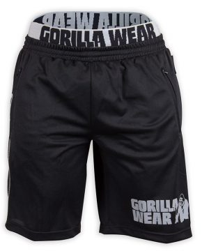 Fitness Shorts Heren Zwart Grijs - Gorilla Wear California-1