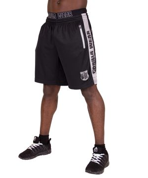 Fitness Shorts Heren Zwart Grijs - Gorilla Wear Shelby-1