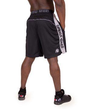 Fitness Shorts Heren Zwart Grijs - Gorilla Wear Shelby-2