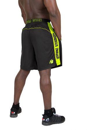 Fitness Shorts Heren Zwart Groen - Gorilla Wear Shelby-2